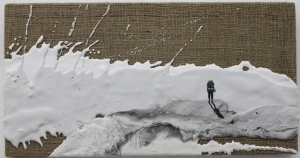 The-Hiker.-Plaster-on-hessian-canvas-20-x-45cm